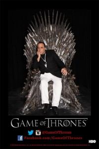 Me sitting on the King of Thrones chair at the licensing show. ( not very comfortable ) all that fighting for this chair ?
